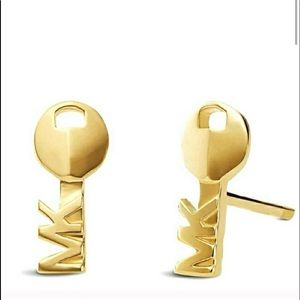 New in box Michael Kors key earrings